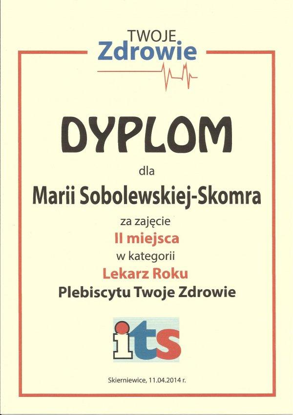 Prywatny Gabinet Lekarski Maria Sobolewska-Skomra Specalista Chorób Wewnętrznych, Gastroenterolog