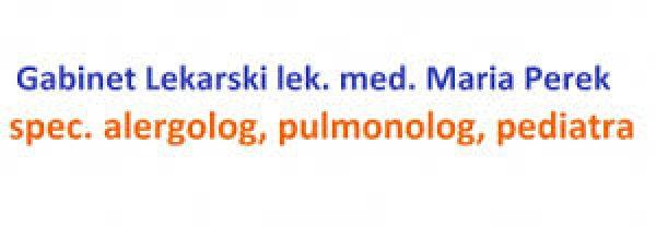 Gabinet Alergologiczny, Pulmonologiczny, Pediatryczny Maria Perek